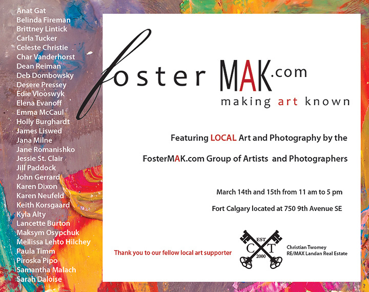 Local Art Foster MAK Spring Show Calgary Equine Photography