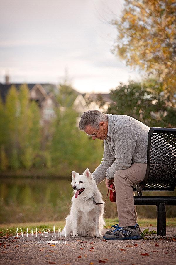 Magnificent Man With Small Dog Park Bench Sarahann Dog Frankydiablos Diy Chair Ideas Frankydiabloscom